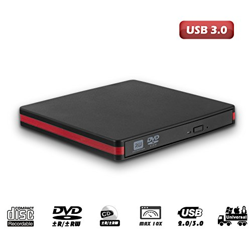 USB 3.0 External CD Drive, MiluoTech Protable CD DVD Drive High Speed Data Transfer DVD CD +/- RW Writer Burner Rewriter DVD/CD-ROM Drives for Laptop Desktops Windows Mac OSX by MiluoTech (Image #3)