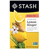 Stash Tea Lemon Ginger Herbal Tea Caffeine Free, 20 Sobres
