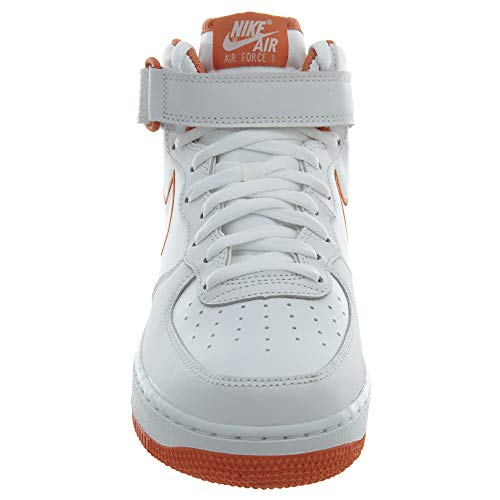 Air Mid Terra Nike Leather White Force 1 Casual Orange Men's Shoes w5FqAI