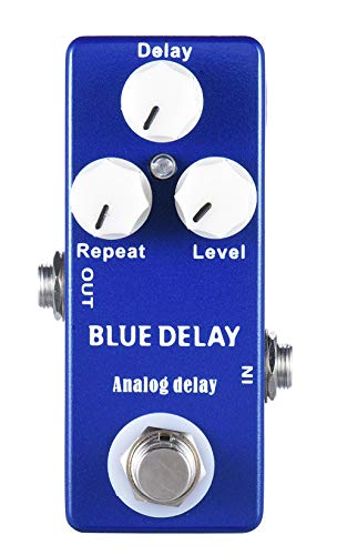 Mosky Mini Blue Delay Effect Pedal With True Bypass Switch