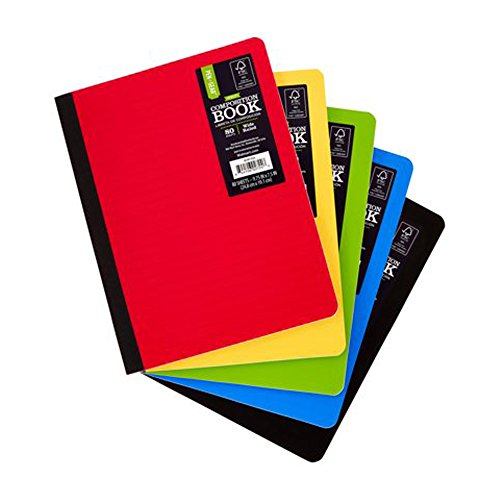 (Pen + Gear 5 Pack Poly Composition Notebook, 9-3/4