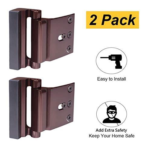 Best Screw Locks - 2 Pack Door Reinforcement Locks with