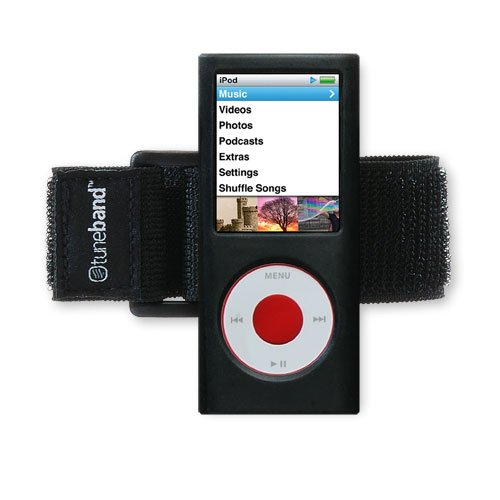 no 4th Generation (Model A1285, No Rear Camera), Premium Armband, Compatible with Nike+iPod, BLACK (Ipod Nano 3rd Armband)