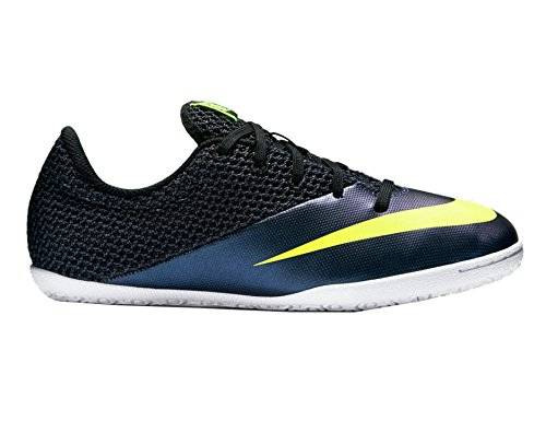 (NIKE Jr MercurialX Pro IC Indoor Soccer Shoes (Squadron Blue, Black, Volt) (4))