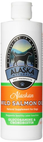 Alaskan Naturals Salmon Oil Salmon Oil with Glucosamin/Chondroitin/MSM for Dogs, 16-Ounce Bottle