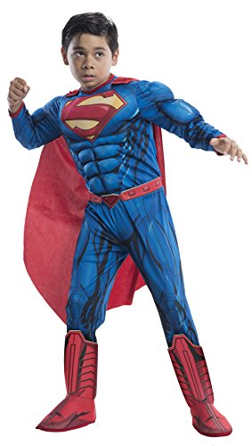 superman+costumes Products : UHC Boy's Deluxe Superman Dawn Of Justice Superhero Fancy Dress Child Costume