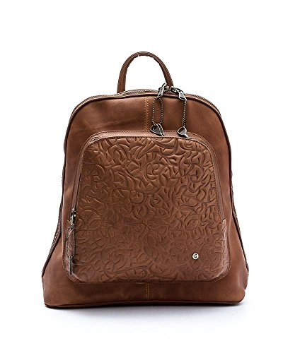 Gaspy Nicole Women's Backpack - Handmade from 100 Percent Genuine Colombian Leather (Cinnamon)