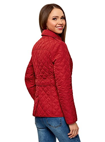 Giubbotto Donna Bottoni Con Trapuntato Collection Oodji 4900n Rosso aSExqwp5p