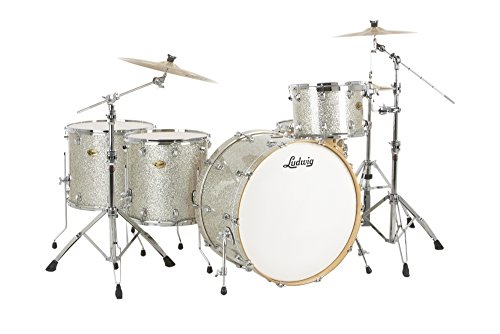 Floor Tom Silver Sparkle - Ludwig Centennial Zep 4-Piece Shell Pack Silver Sparkle