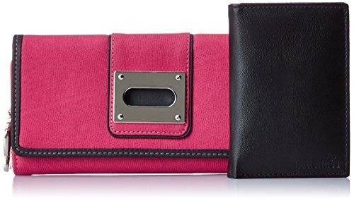 Butterflies Women's Wallet 12 x 5 Pink, Black by Butterflies