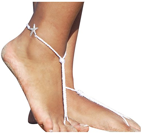 Women Girls Barefoot Sandals Foot Jewelry Anklets Chain with Star, (Decent Halloween Costume Ideas)