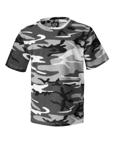 Bodek And Rhodes 55066305 2206 Code Five Youth Camouflage T-Shirt Urban Woodland - Large