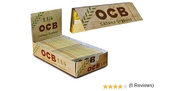 OCB Papel Fumar Ultrafino CAÑAMO ORGANICO Pack X 25 LIBRITOS: Amazon.es: Hogar