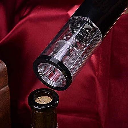 TETHYSUN Abridor de vino Sacacorchos eléctrico original eléctrico abridor de vino sacacorchos automático de botellas de vino kit inalámbrico con cortador de lámina y vacío-blanco (color: blanco)