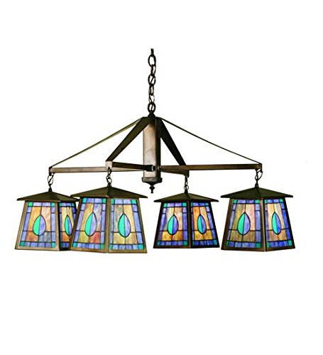 Meyda Tiffany 51377 Mackintosh Leaf 4 Light Chandelier, 38