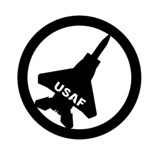 Air Force Fighter Plane USAF Vinyl Decal Window Sticker Graphic Auto Wall Laptop, Die cut vinyl decal for windows, cars, trucks, tool boxes, laptops, MacBook - virtually any hard, smooth ()