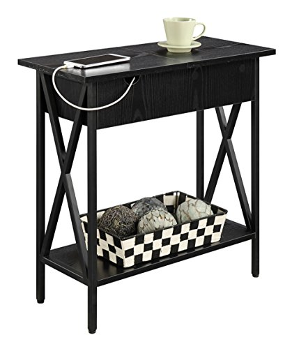 Convenience Concepts Tucson Electric Flip Top Table, Black by Convenience Concepts (Image #2)'