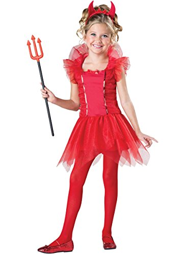 [InCharacter Costumes Dazzling Devil Costume, One Color, 10] (Dazzling Devil Costumes)