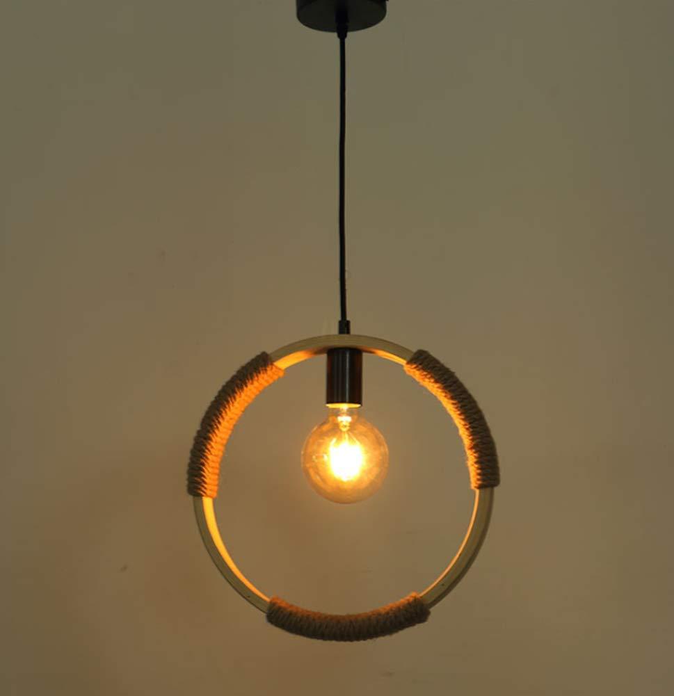 Phil lamps Pendelleuchte Vintage E27 Kreative Kunstbar Loft Kreisform Bambusrattan Seilweberei Kronleuchter Retro Cafe