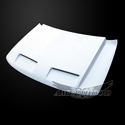 AmeriHood JGC99AHGTRFHW GTR Style Functional Ram Air Hood For Jeep Grand Cherokee 1999-2004