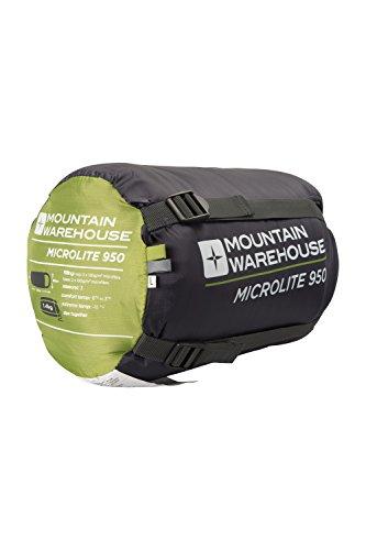 Mountain Warehouse Sac de couchage Microlite 950 Vert citron Zip Gauche IY8IFVo