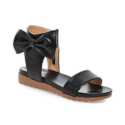 AN Womens Non-Marking Cold Lining Toggle Urethane Flats Sandals DIU00914 Black TOm83ZBzgP