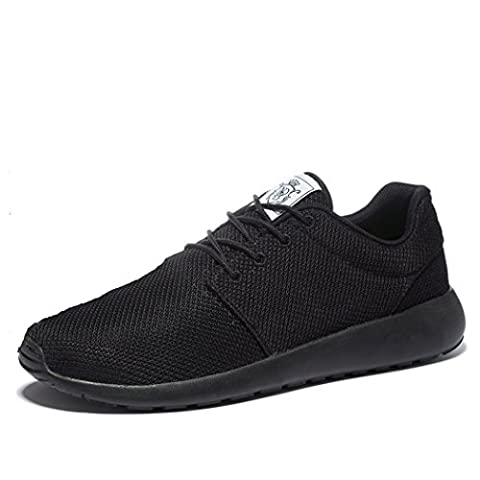 Wei Men's Breathable Running Shoes,Walk,Beach Aqua,Outdoor,Water,Rainy,Exercise,Drive,Athletic Sneakers EU46 All Black