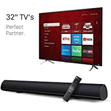 """BYL Sound Bar Wireless Bluetooth and Wired Soundbar Speaker System(28"""", Optical Cable Included, 3D Sound System, Remote Control with Learning Function, Wall Mountable) Updated Version"""