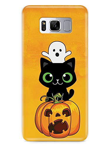 Inspired Cases - 3D Textured Galaxy S8 Case - Protective Phone Cover - Rubber Bumper Cover - Case for Samsung Galaxy S8 - Cute Halloween Trio - Fall Background Case