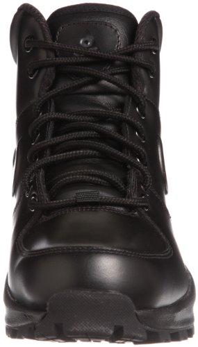 Nike Manoa Leather Zapatillas de senderismo, Hombre Negro (Black / Black-Black)