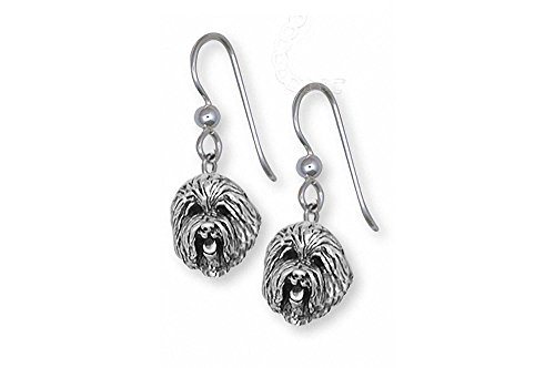 Old English Sheepdog Jewelry Sterling Silver Old English Sheepdog Earrings Handmade Dog Jewelry OE2-FW