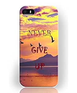 customize diy Love Quotes Case For Iphone 5 5s Unique Design Hard Snap On Plastic Case - Never Give Up ka ka case