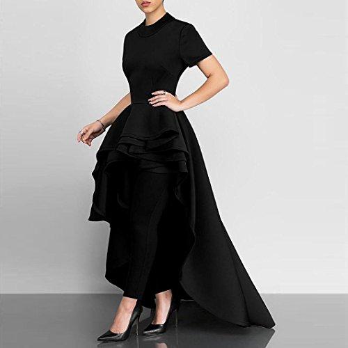 iTLOTL Women Short Sleeve High Low Peplum Dress Bodycon Casual Party Club Dress(US:6/CN:M, (Lolita Camisole)