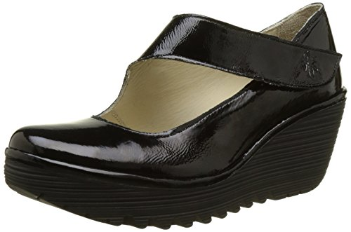 Fly London Yasi682fly, Zapatos con Plataforma Para Mujer Negro (Black 2020)