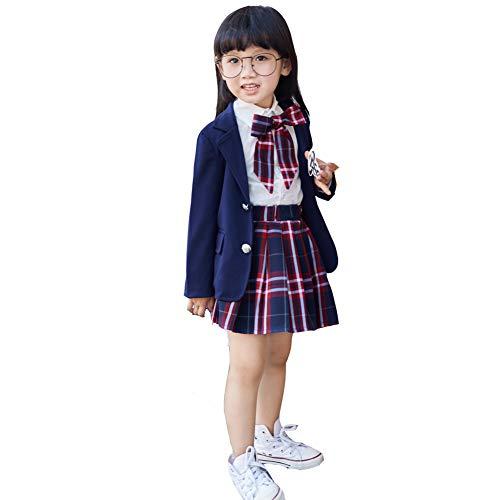 032da6ff7c4f5 Ymgot 子供服 フォーマル 卒業式 スーツ 女の子 学生制服 4点セット キッズ スーツ 入園