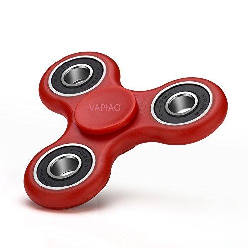 Fidget Tri (dreifach) Spinner Special Version mit 4 Kugellagern Anti Stress Kreisel Hand Spielzeug mit Keramik Kugellagern in Rot von VAPIAO