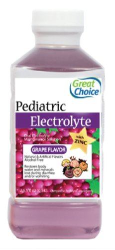 Great Choice Pediatric Electrolyte, Grape Flavor, 16.9 Fluid Ounce