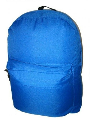 16'' Basic School Backpack Day Pack - Royal Blue - Case Pack 40 SKU-PAS703149 by DDI