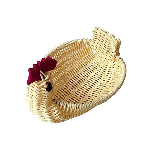Woven Storage Basket Hand-Woven Rattan Basket Lovely Swan Fruit Storage Basket Hen Shaped Photo Props Posing for Home Decoration (Baskets Target Rattan)