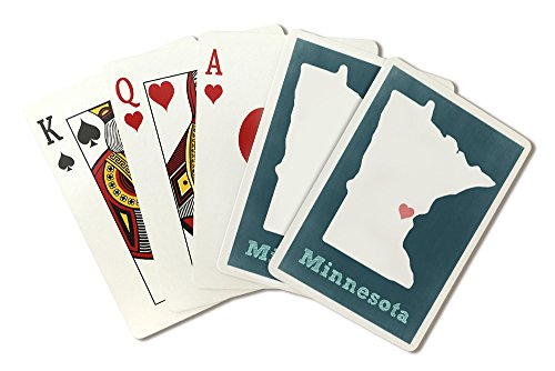 Minnesota - Chalkboard (Playing Card Deck - 52 Card Poker Size with Jokers) by Lantern Press