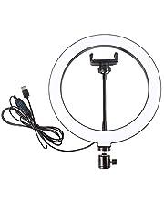 YJYQ Webcam Ring Light Stand, Video Conferentie Verlichting Kit, Voor Live Stream, Make-up Selfie Ring Flash Led Vullicht, 10 Inch
