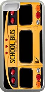 Rikki KnightTM Back Of A Yellow School Bus Design iPhone 5c Case Cover (Clear Rubber with bumper protection) for Apple iPhone 5c by runtopwell