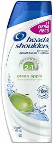 Head & Shoulders Green Apple 2-in-1 Anti-Dandruff Shampoo + Conditioner 13.5 Fl Oz (Pack of 2)