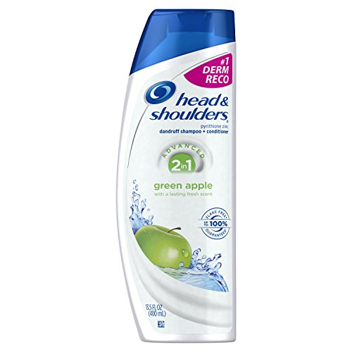 Head & Shoulders Green Apple 2-in-1 Anti-Dandruff Shampoo + Conditioner 13.5 Fl Oz (Pack of 2) (1 2in Dandruff Shampoo)
