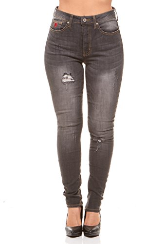 Red Jeans Women's Casual High Rise Stretchy Denim Pants