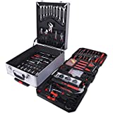399pcs/Set Socket Spanner Set 1/4 Drive Metric Extension Bar with Box Car Repair Tool Ratchet Torque Wrench Automobile Tools Kit with aluminium box 02