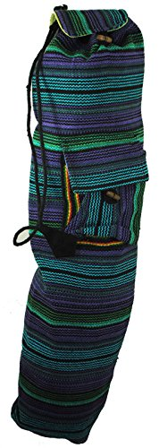 Hippy Bright Funky Fun Boho India Nepal Yoga Mat Bag Satchel Carrier Sack Holder