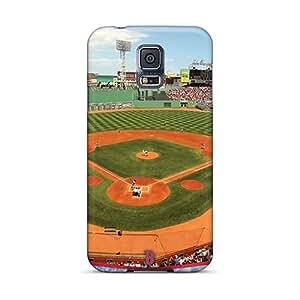 LisaSwinburnson Samsung Galaxy S5 Shockproof Hard Cell-phone Case Custom Realistic Boston Red Sox Skin [wxF19324JKiT]