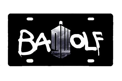 c46453ad8f564 Panda Doctor Who Bad Wolf custom Metal License Plate for Car 12 inch X 6  inch