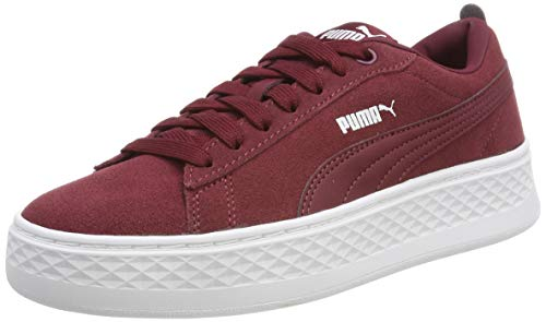 Platform Puma puma Sd Smash Rot cordovan White Sneaker Damen zraxwr